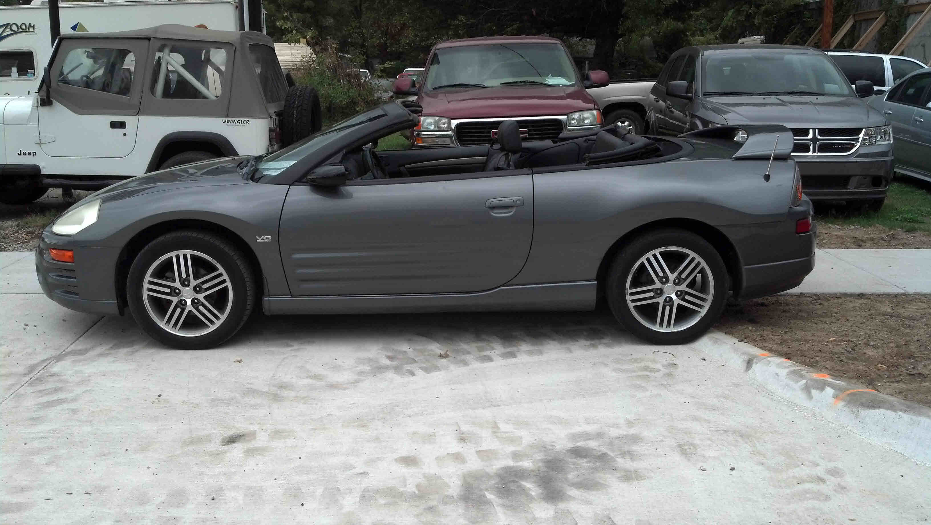 2 Door Convertible >> Silver, dark grey leather interior, V-6 3.0 liter, 5 speed, front-wheel drive, 2 door, keyless ...