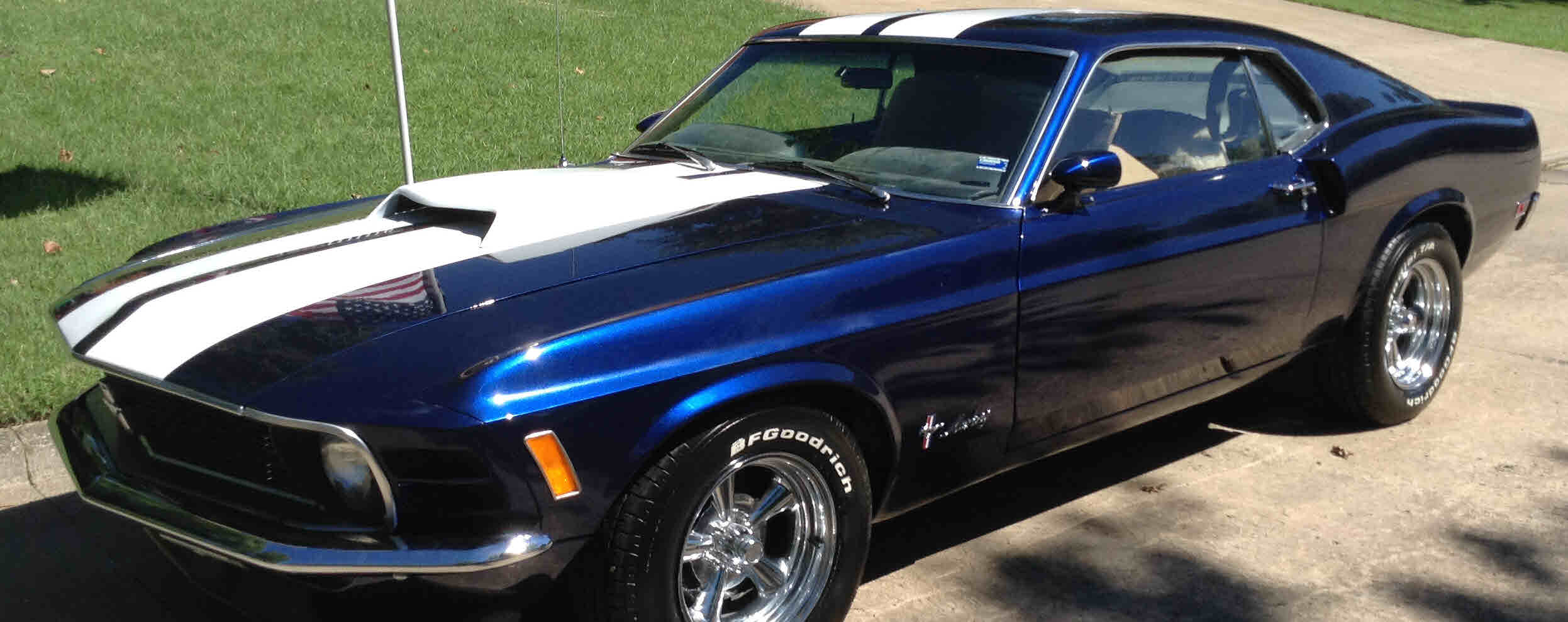 Loughmiller Motors 1970 Ford Mustang 302 Belt Diagram Gt Dark Sapphire Blue V 8 351 Modified 2 Door Auto 3 Speed Sold
